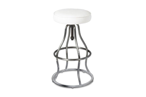 Levett Adjustable Bar Stool WHITE