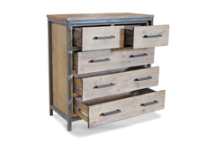 Lofton 5 Drawer Chest ACACIA/IRON