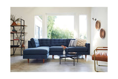 Logan 2pc Sectional Sofa :: Leg Finish: Espresso / Configuration: RAF - Chaise on the Right