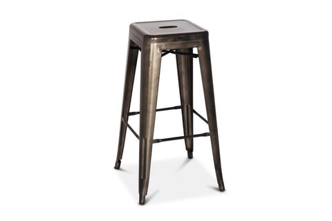 Oxford Metal Counter Stool- Set of 4 GUNMETAL - Apt2B