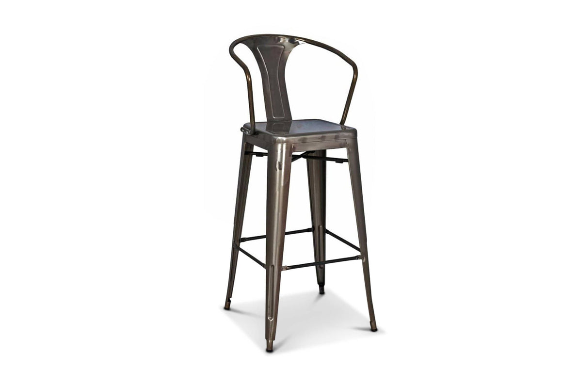 Phenomenal Oxford Metal Counter Chair Gunmetal Set Of 4 Beatyapartments Chair Design Images Beatyapartmentscom