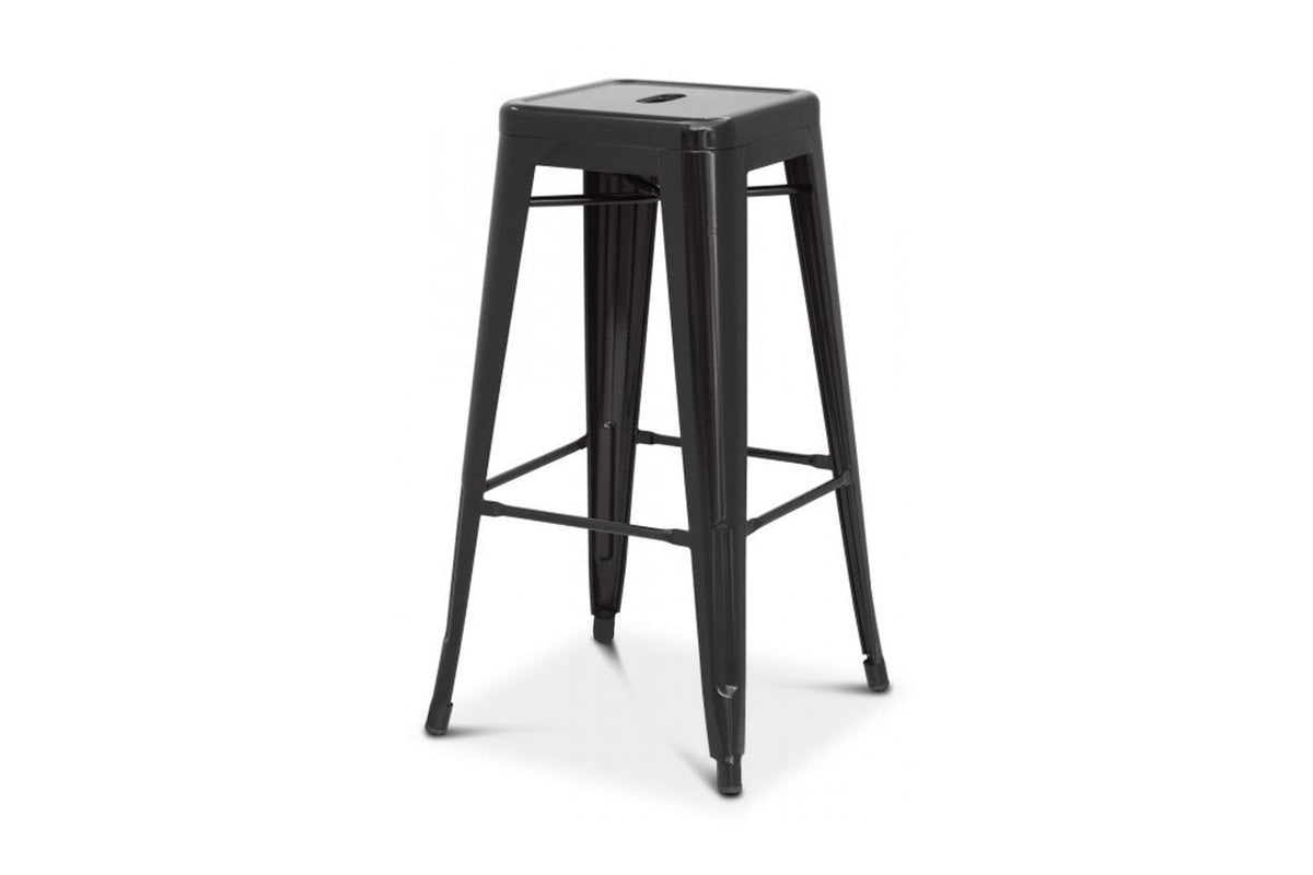 Admirable Oxford Metal Counter Stool Black Set Of 4 Pabps2019 Chair Design Images Pabps2019Com