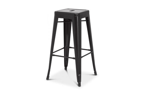 Oxford Metal Counter Stool- Set of 4 BLACK - Apt2B