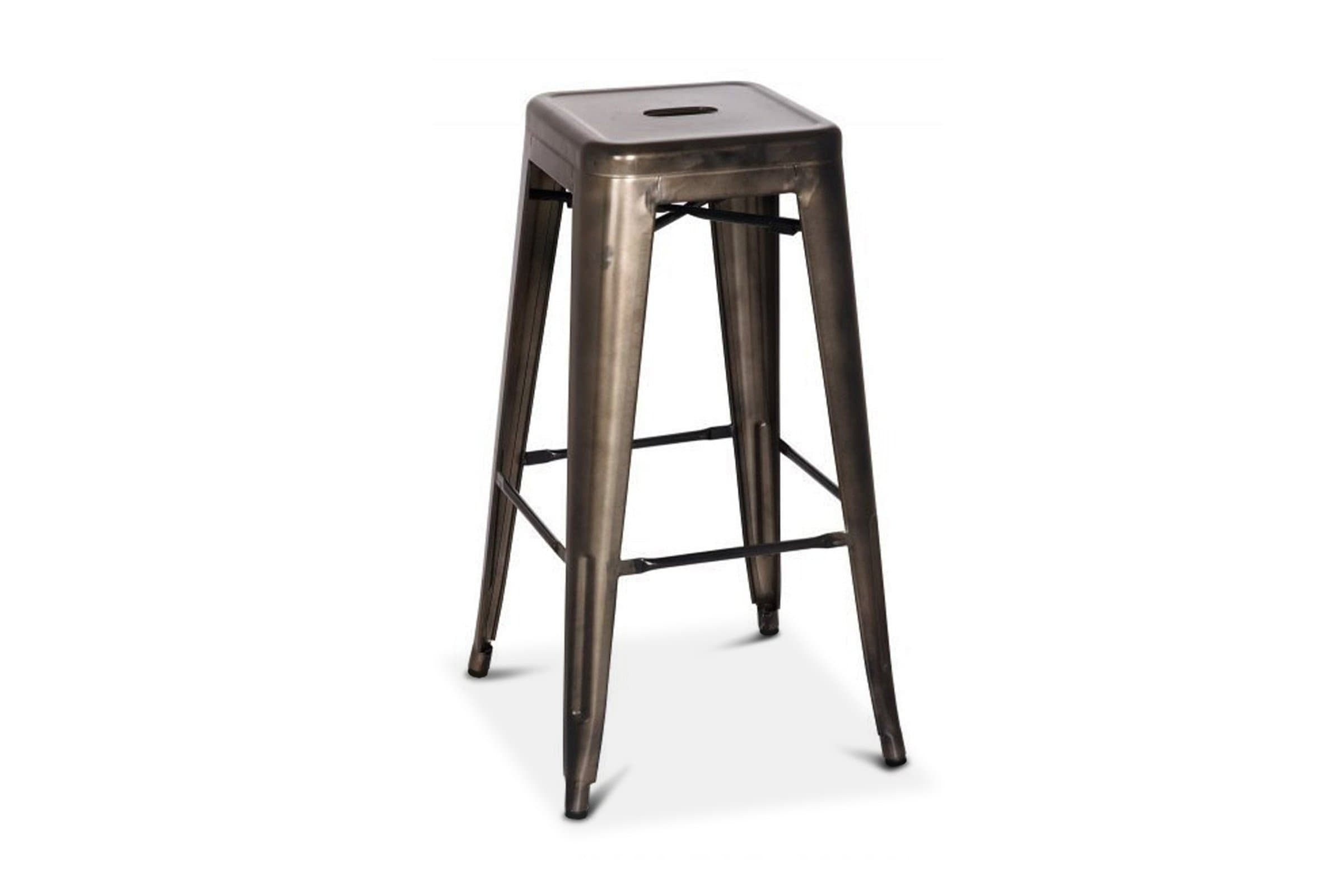 Oxford Metal Bar Stool GUNMETAL - SET OF 4