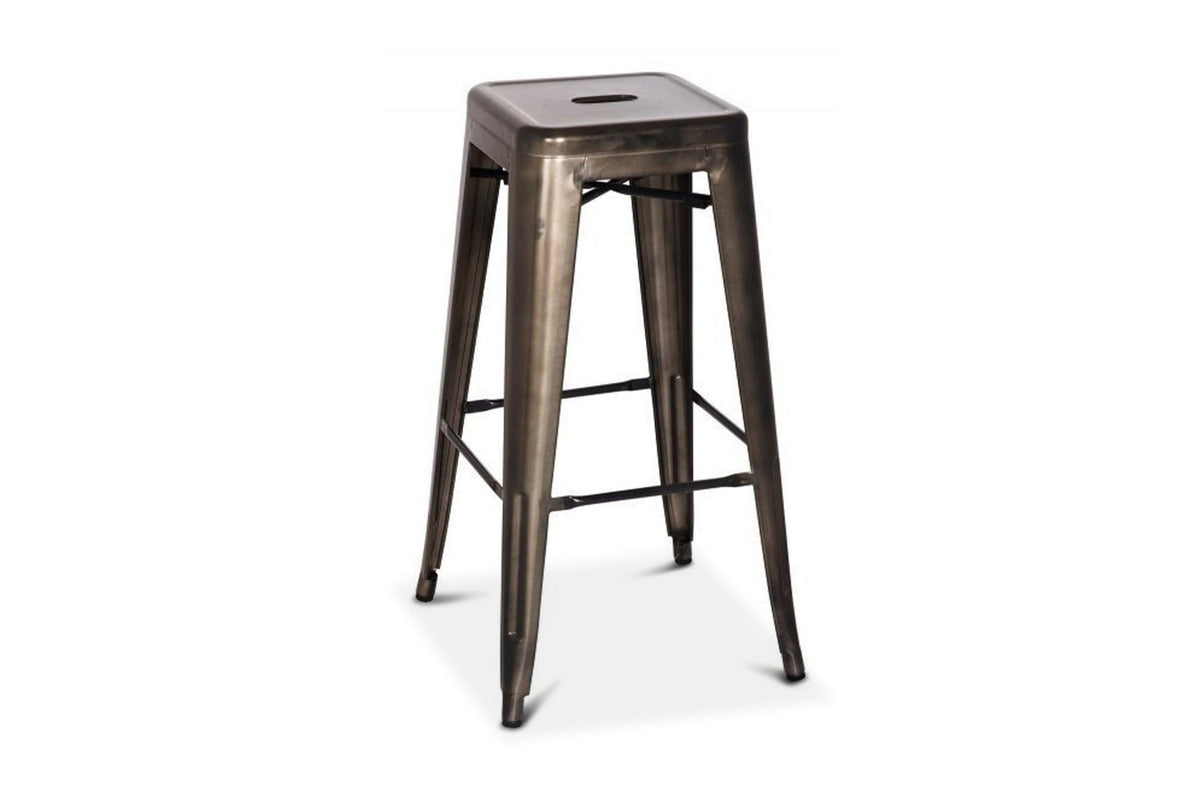 Astonishing Oxford Metal Bar Stool Gunmetal Set Of 4 Caraccident5 Cool Chair Designs And Ideas Caraccident5Info