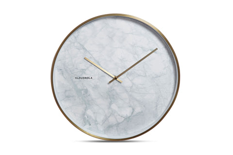 Structure Wall Clock by Cloudnola MARBLE