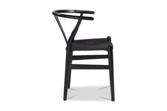 Sylmar Side Chair BLACK/CHOICE OF SEAT COLOR - SET OF 2