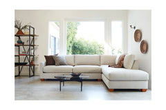 Tuxedo 2pc Sleeper Sectional :: Leg Finish: Natural / Configuration: LAF - Chaise on the Left / Sleeper Option: Deluxe Innerspring Mattress