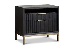 Westmont Nightstand BLACK/BRUSHED STEEL - Apt2B - 1