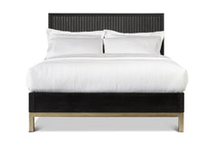 Westmont Low Profile Platform Bed BLACK/BRUSHED STEEL - Apt2B - 2