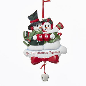 "Kurt Adler ""Our 1st Christmas Together"" Snow Couple Ornament For Personalization, A0215"