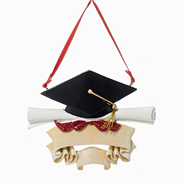 Kurt Adler Graduate Ornament For Personalization, A0657