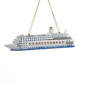 Kurt Adler Cruise Ship Ornament For Personalization, A1581