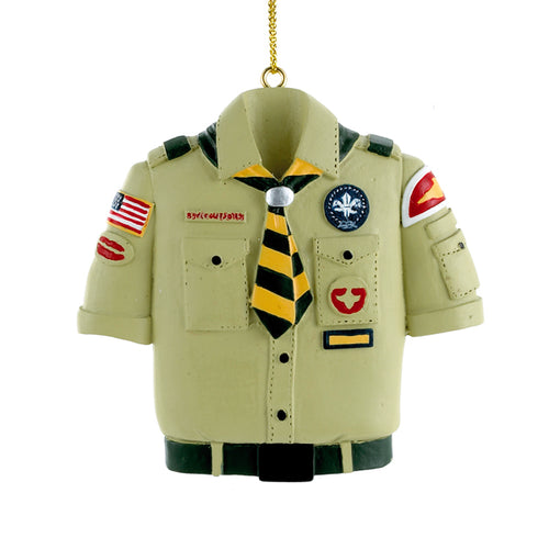 Kurt Adler Boy Scouts Of America Tan Shirt Ornament, BS4803B