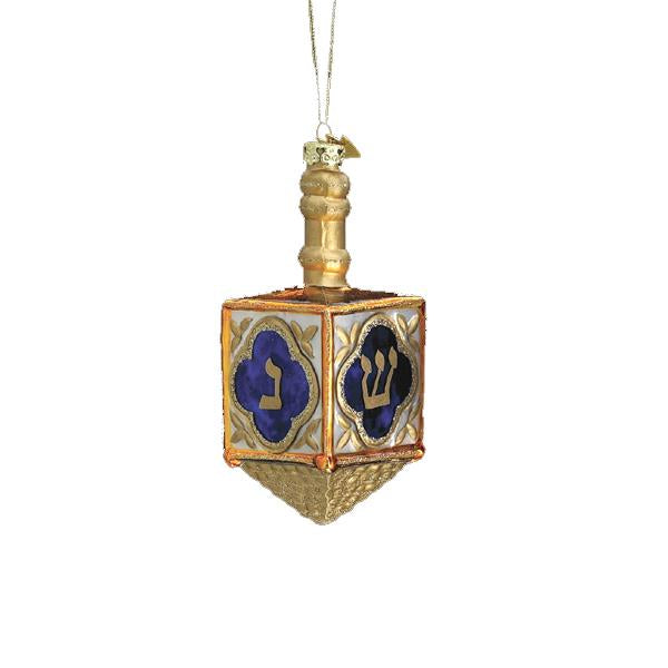 Kurt Adler Noble Gems Jewish Dreidel Glass Ornament, C1724