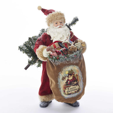 Kurt Adler Fabrich_ Old Fashioned Santa, C2518