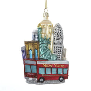 Kurt Adler New York City Cityscape Glass Ornament, C4170
