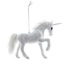 Kurt Adler Plush Unicorn Ornament, C4672
