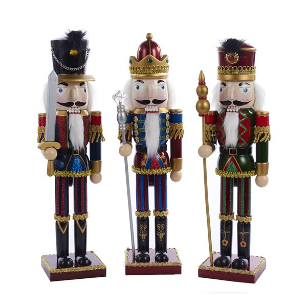 Kurt Adler 15-Inch King and Soldiers With Striped Pants Nutcrackers,Choose from 3, C4722