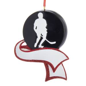 Resin Hockey Ornament for Personalization, C6452