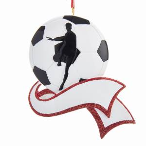 Resin Soccer Ornament for Personalization, C6453