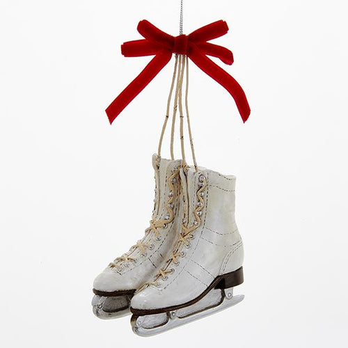 Kurt Adler Ice Skates With Red Bow Ornament, C6716