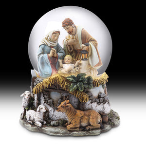 100MM Holy Family Musical Waterglobe, C7101