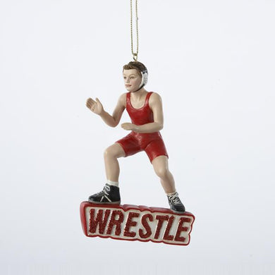 Kurt Adler Wrestling Boy Ornament, C7269