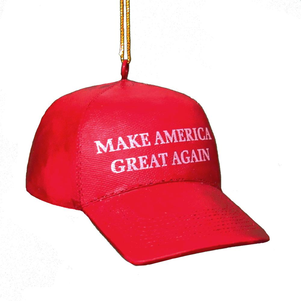 kurt adler make america great again trump hat ornament c7571
