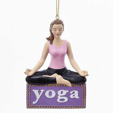 Kurt Adler Yoga Girl Ornament For Personalization, C7977