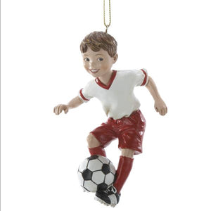Kurt Adler Soccer Boy Ornament, C8189B