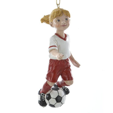 Kurt Adler Soccer Girl Ornament, C8189G