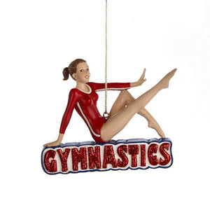 Kurt Adler Gymnastics Girl Ornament, C8252