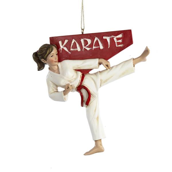 Kurt Adler Karate Girl Ornament, C8253G
