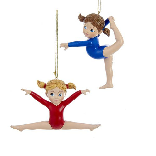 Kurt Adler Gymnast Girl Ornaments, 2A, C9289