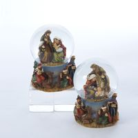 Kurt Adler 45MM Mini Resin Nativity Water Globe Table Piece, C9847