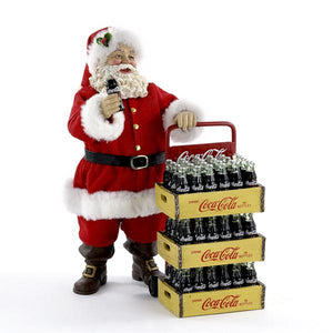 Kurt Adler Coca-Cola Santa With Delivery Cart Tabletop Decoration, CC5151