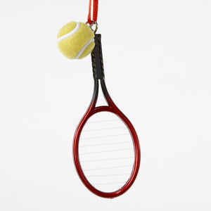 Kurt Adler Tennis Racket With Ball Ornament, D0552