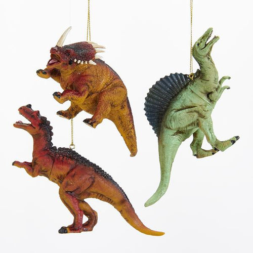 Kurt Adler Dinosaur Ornaments, 3 Assorted, D2765