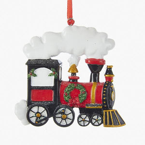 Kurt Adler Christmas Train Ornament For Personalization, D3043