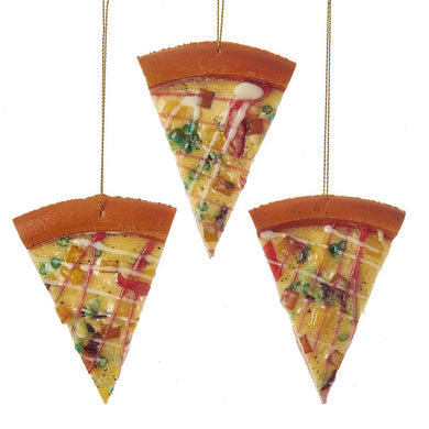 Kurt Adler Pizza Ornament, 3 Assorted, D3249