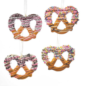 Kurt Adler Twisted Pretzel Ornaments, 4 Assorted, D3299