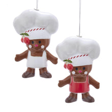 Kurt Adler Gingerbread Chef Ornaments, 2 Assorted, D3548
