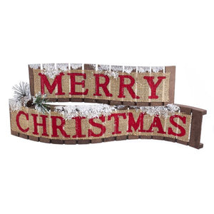 "18"" Wood Merry Christmas Sign Table Piece, D3593"