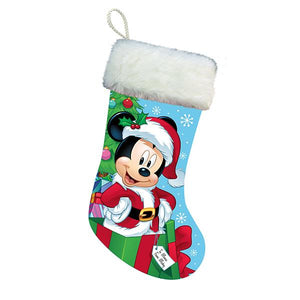 Kurt Adler Disney Santa Mickey Mouse Stocking With Plush Cuff, DN7161