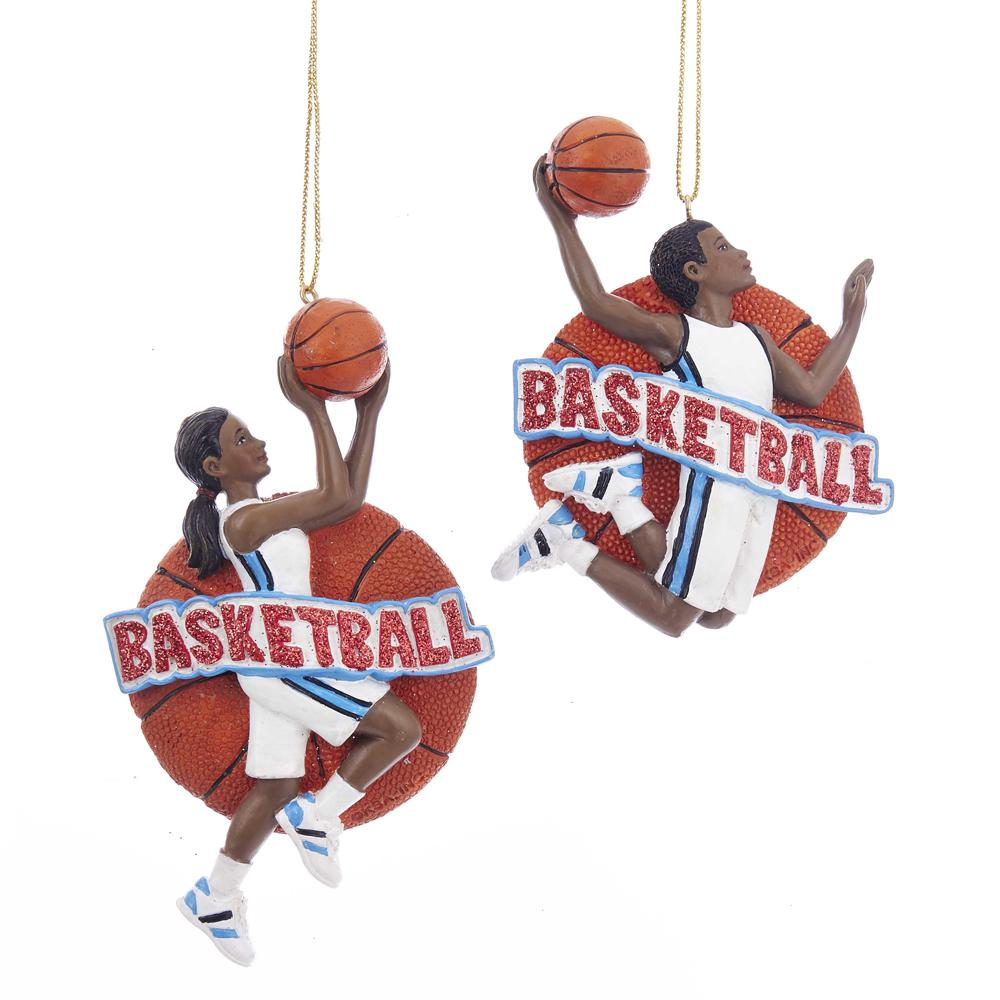 Kurt Adler African American basketball boy ornament, E0202