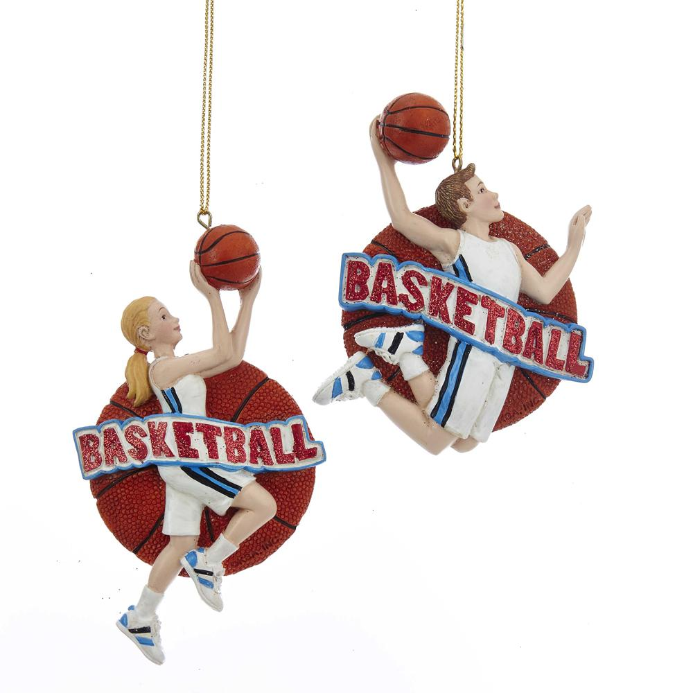 Kurt Adler Basketball boy or girl  ornaments, E0203