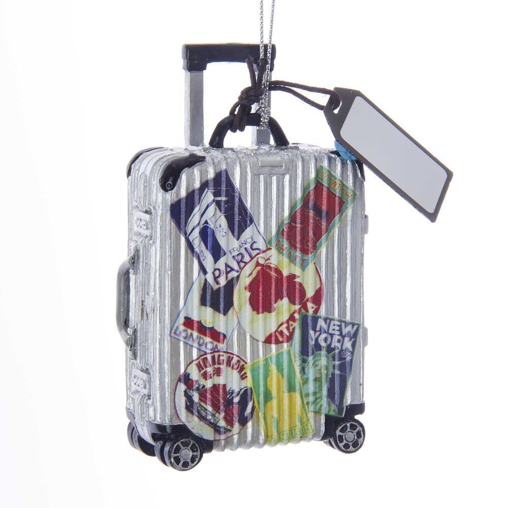 Kurt Adler Travel Luggage Ornament For Personalization, E0227