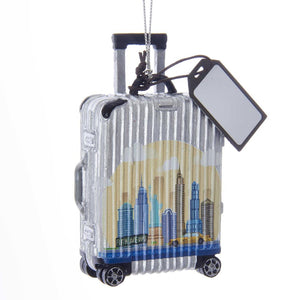 Kurt Adler Kurt Adler 3.75-Inch New York Luggage Ornament, E0229