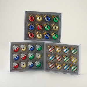 Kurt Adler 25MM Miniature Multi-Colored Glass Ball Ornaments, 12-Piece Box Set, GG0293